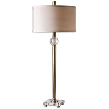"Uttermost Mesita 40"" Buffet Lamp in Plated Brush Brass"