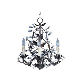 Maxim Lighting Elegante 3-Light Chandelier in Oil Rubbed Bronze
