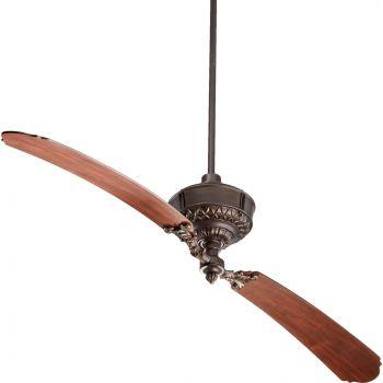 """Quorum Turner 68"""" 2-Blade Indoor Ceiling Fan in Oiled Bronze"""