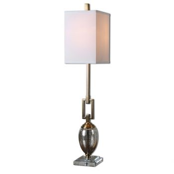 "Uttermost Copeland 37.25"" Mercury Glass Buffet Lamp in Coffee Bronze"