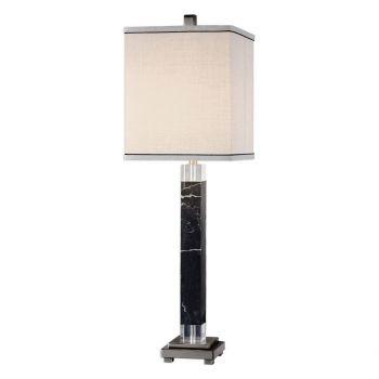 """Uttermost Brigida 32.25"""" Accent Lamp in Black Marble"""