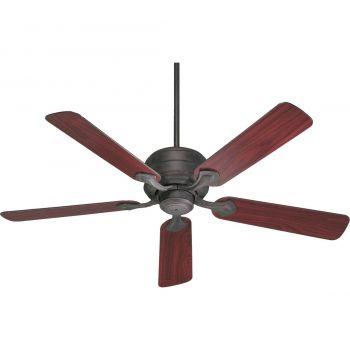 "Quorum Hanover 52"" 5-Blade Indoor Ceiling Fan in Toasted Sienna"