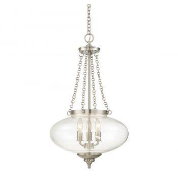 Savoy House Talbott 3-Light Pendant in Satin Nickel