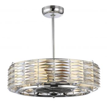 Savoy House Taurus 6-Light Air Ionizing Fan d'Lier in Polished Chrome