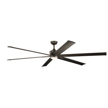 """Kichler Szeplo Patio 96"""" LED Ceiling Fan in Olde Bronze"""