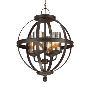 Sea Gull Lighting Sfera 4-Light Chandelier in Autumn Bronze