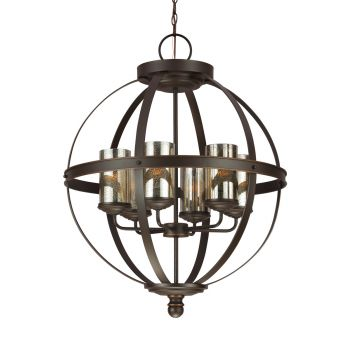 Sea Gull Lighting Sfera 6-Light Chandelier in Autumn Bronze