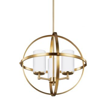 "Sea Gull Lighting Alturas 19"" 3-Light Chandelier in Satin Bronze"