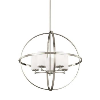 Sea Gull Lighting Alturas 5-Light Chandelier in Brushed Nickel