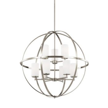 Sea Gull Lighting Alturas 9-Light Chandelier in Brushed Nickel