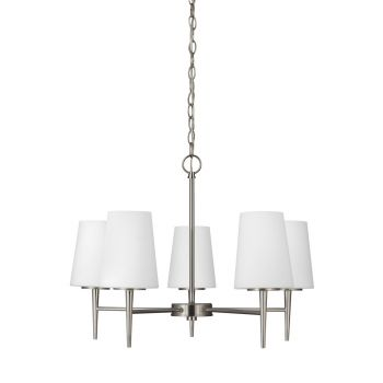 Sea Gull Lighting Driscoll 5-Light Chandelier in Brushed Nickel