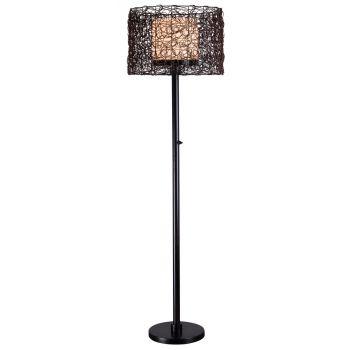Kenroy Home Tanglewood Outdoor Floor Lamp in Bronze Finish