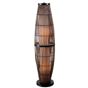 Kenroy Home Biscayne Outdoor Floor Lamp with Bronze Accents
