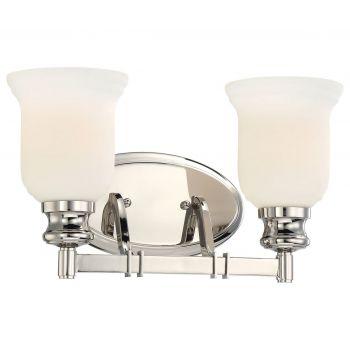 Minka Lavery Audreys Point 2-Light Bath Vanity in Polished Nickel