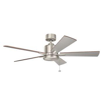 """Kichler Bowen 52"""" Ceiling Fan in Brushed Nickel"""