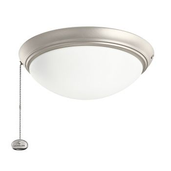Kichler Accessory Low Profile LED Ceiling Fan Light Kit in Brushed Nickel