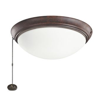 Kichler Accessory Low Profile LED Ceiling Fan Light Kit in Tannery Bronze