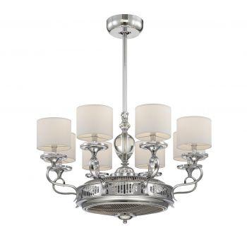 Savoy House Levantara 8-Light Air-Ionizing Fan d'Lier in Chrome