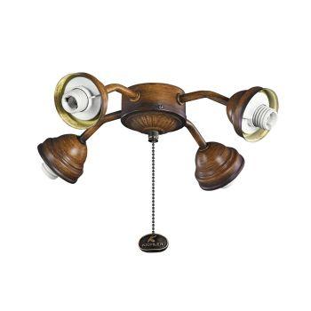 Kichler Signature 4-Light Fan Fitters in Mediterranean Walnut