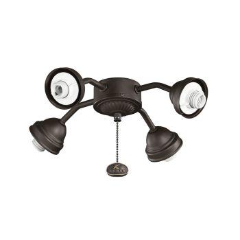 Kichler Signature 4-Light Fan Fitters in Satin Natural Bronze