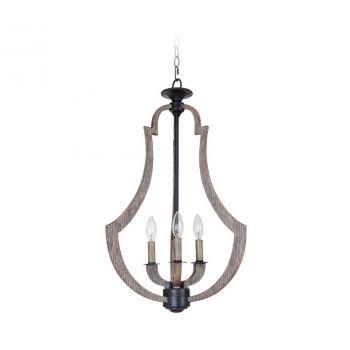 Jeremiah Lighting Winton 3-Light Foyer in Weathered Pine