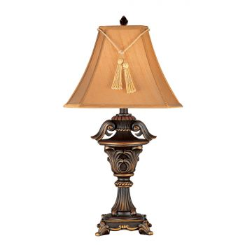 Kenroy Home Rowan Table Lamp in Metallic Bronze Finish