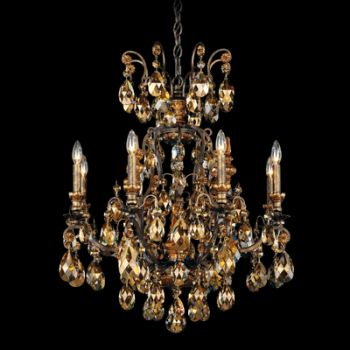 "Schonbek Renaissance 26.5"" 9-Light Chandelier in Heirloom Bronze"