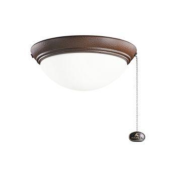 Kichler Accessories Small Low Profile Ceiling Fan Light Kit in Tannery Bronze Powder Coat