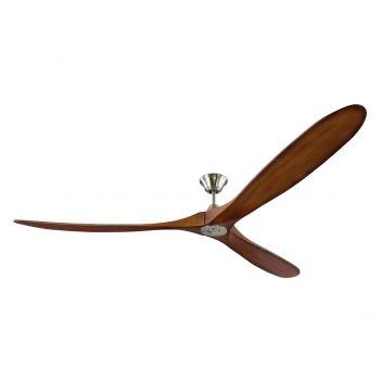 Monte Carlo Maverick Super Max Fan in Brushed Steel w/ Koa Blades