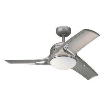 "Monte Carlo 38"" Mach Two Ceiling Fan in Titanium"