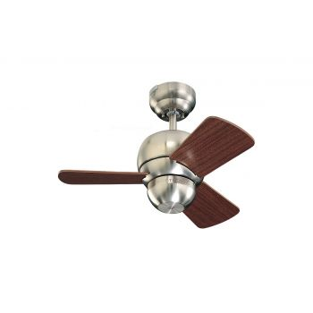Ceiling fans sale up to 70 off select items lightsonline monte carlo 24 micro 24 fan damp rated ceiling fan in brushed steel aloadofball Image collections