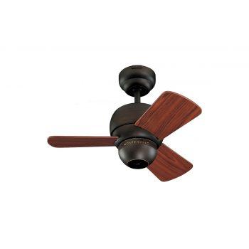 """Monte Carlo 24"""" Micro 24 Fan Damp Rated Ceiling Fan in Roman Bronze"""