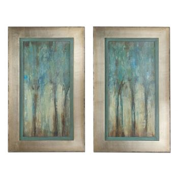 Uttermost Set of 2 Whispering Wind Framed Art