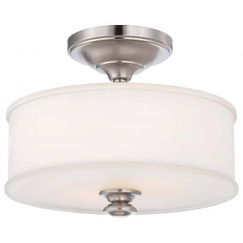 Minka Lavery Harbour Point 2-Light Semi-Flush in Brushed Nickel