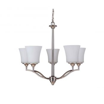 Craftmade Helena 5-Light Chandelier in Polished Nickel
