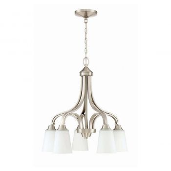 Craftmade Grace 5-Light Down Chandelier in Brushed Polished Nickel