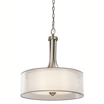 Kichler Lacey 4-Light Inverted Pendant in Antique Pewter