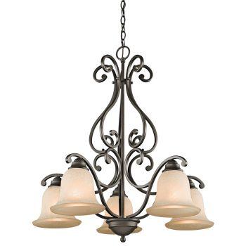 Kichler Camerena 5-Light Medium Chandelier in Olde Bronze