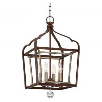 Minka Lavery Astrapia 4-Light Foyer in Dark Rubbed Sienna
