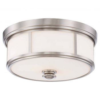 Minka Lavery Harbour Point 2-Light Flush Mount in Brushed Nickel