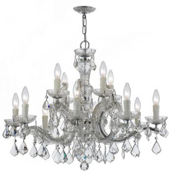 Crystorama Maria Theresa 12-Light Hand Cut Crystal Chandelier