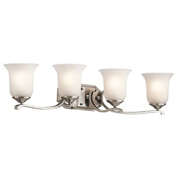 Kichler Wellington Square 4-Light Bath Wall Mount in Classic Pewter