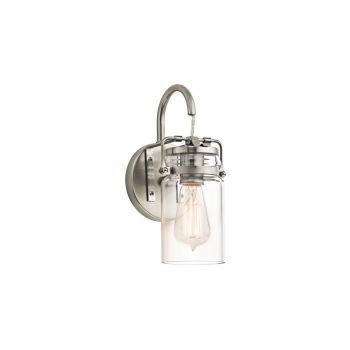 "Kichler Brinley Farmhouse 11.5"" Wall Sconce in Brushed Nickel"
