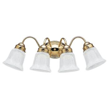Pierpoint 4-Light Bath Vanity in Polished Brass