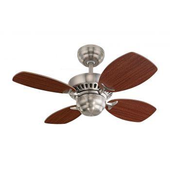 """Monte Carlo 28"""" Colony II Ceiling Fan in Brushed Steel"""