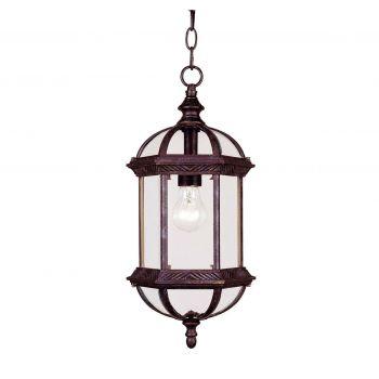 "Savoy House Kensington 18"" Outdoor Hanging Lantern in Rustic Bronze"