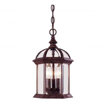 Savoy House Kensington Outdoor Hanging Lantern in Rustic Bronze