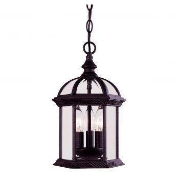 Savoy House Kensington Outdoor Hanging Lantern in Textured Black