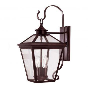 Savoy House Ellijay 3-Light Outdoor Wall Lantern in English Bronze