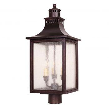 Savoy House Monte Grande 3-Light Post Lantern in English Bronze